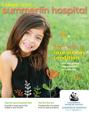 Caring For Kids Magazine Fall 2018 Cover