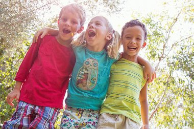 Children enjoying outdoors