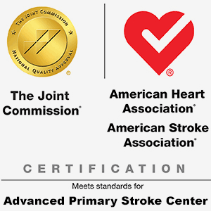 El Gold Seal of Approval® de la Comisión Conjunta y la marca American Heart Association® / American Stroke Association® Heart-Check para la certificación avanzada de accidente cerebrovascular primario (2020)